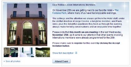Event- InterNations Lisbon November Get-Together @ The Fontana Park - InterNations_1259053908859