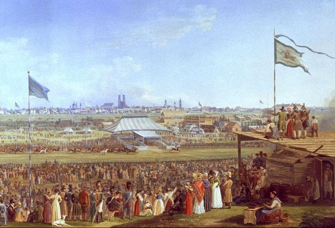 Horse Race at the Okotberfest , Munich, in 1823