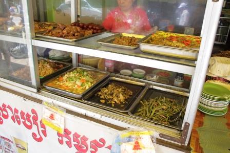 Food Stall At A Market In Phnom Penh, Cambodia