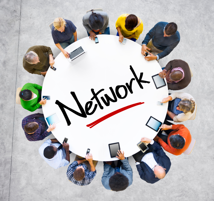 People and Network Concept with Textured Effect