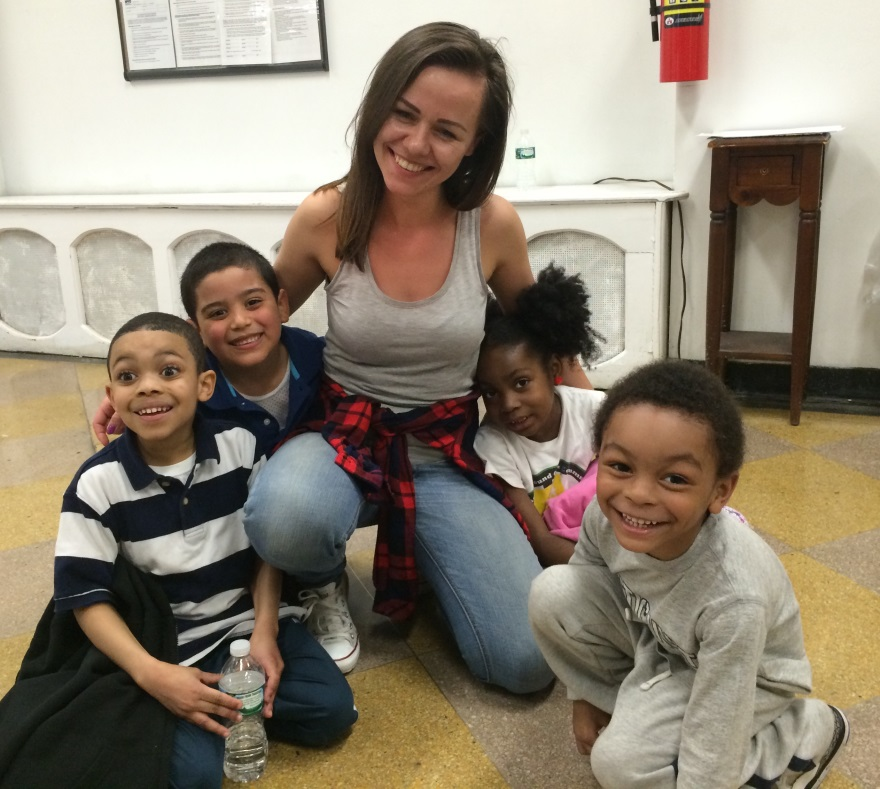 3. New York Volunteer with Children