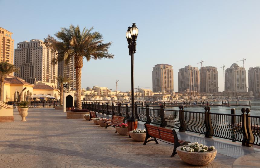 Promenade in Porto Arabia, Doha, Qatar Middle East