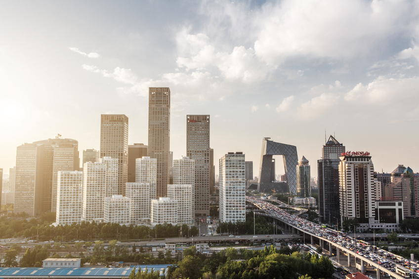 Elevated View of Beijing Skyline