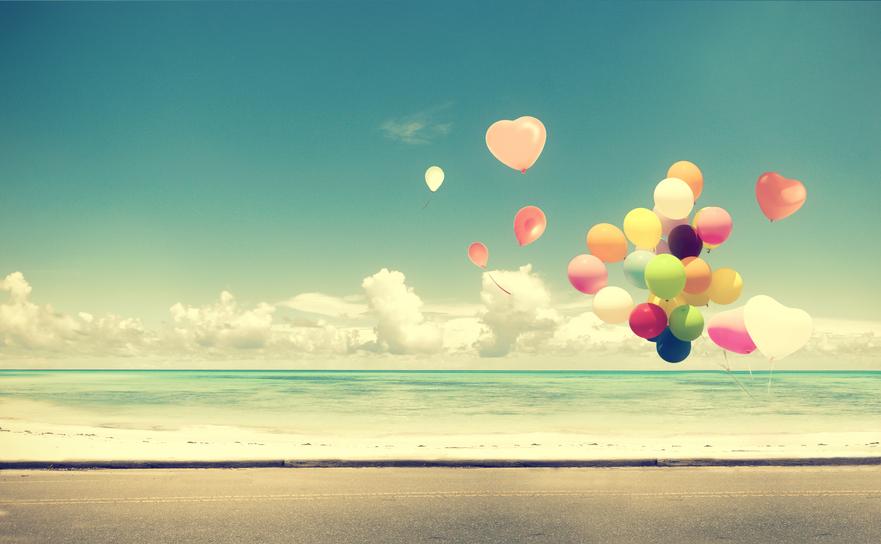 balloon on beach